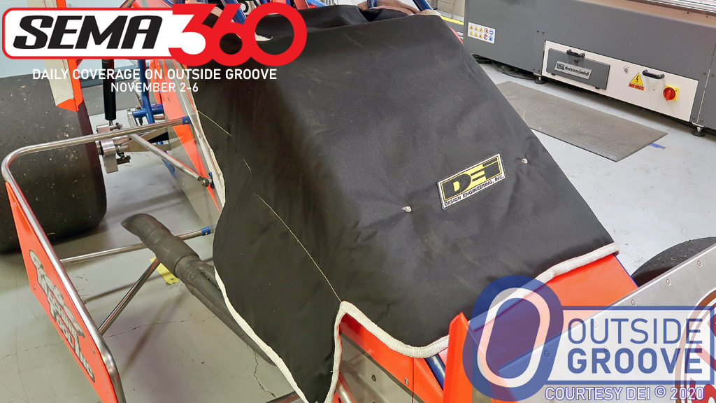 Sprint Car Engine Cover: Warms Engines Quicker