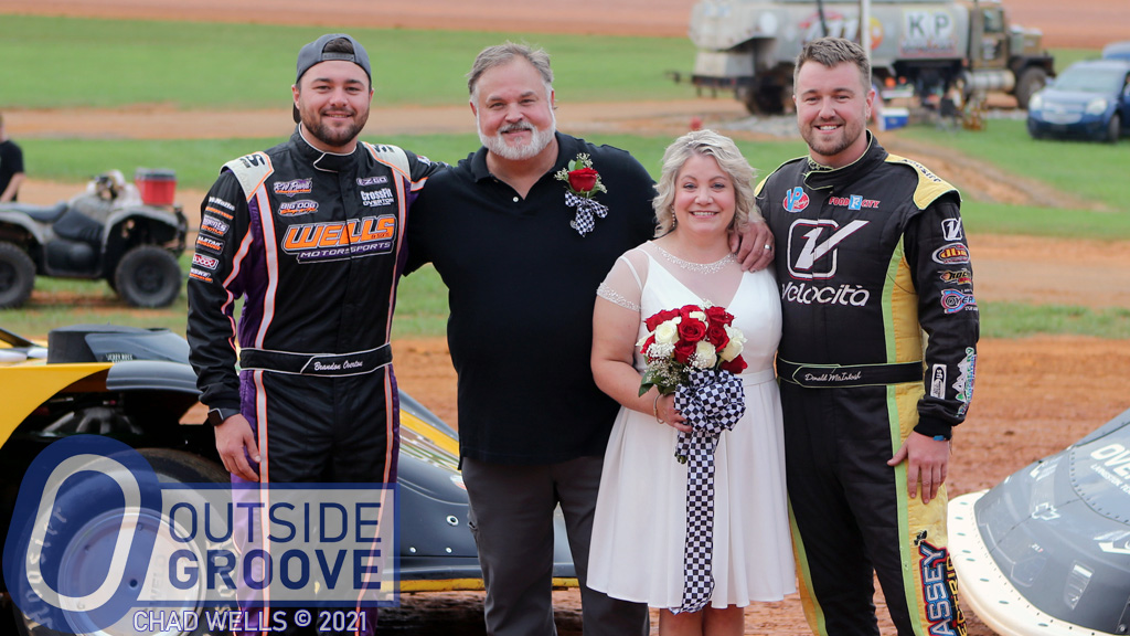 Jennifer Sherrill and Wesley Chester Wed at Track